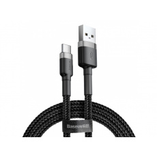 Baseus Cafule Cable USB for Type-C 3A 0.5M Grey + Black