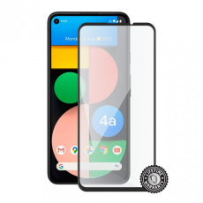 Screenshield GOOGLE Pixel 4a (full COVER black) Tempered Glass Protection