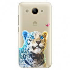 Plastové pouzdro iSaprio - Leopard With Butterfly - Huawei Y3 2017