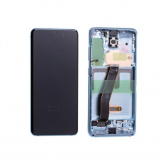 LCD displej Samsung Galaxy S20 G980 LCD + Touch + Frame Cloud Blue (Service Pack)