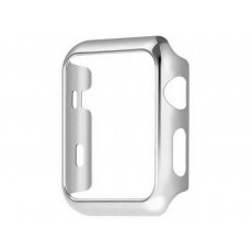 COTEetCI PC Plated Protective Case for Apple Watch 44mm Silver