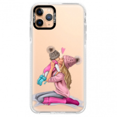 Silikonové pouzdro Bumper iSaprio - Kissing Mom - Blond and Girl - iPhone 11 Pro Max