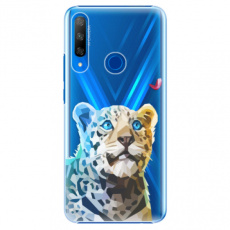 Plastové pouzdro iSaprio - Leopard With Butterfly - Huawei Honor 9X
