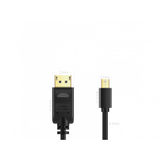 Cable Creation Mini DP transfer to DP Black