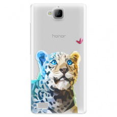Plastové pouzdro iSaprio - Leopard With Butterfly - Huawei Honor 3C