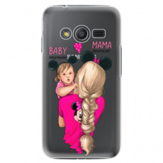 Plastové pouzdro iSaprio - Mama Mouse Blond and Girl - Samsung Galaxy Trend 2 Lite
