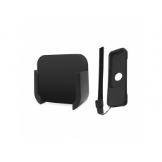 Apple TV Remote Control Wall Mount Brackets Stand with Black Silicone